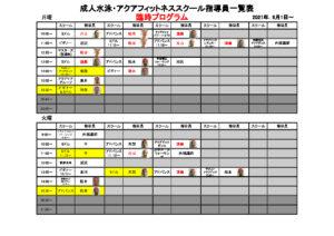6月1日~短縮版 成人水泳・アクアフィットネススクール指導員一覧表 – コピーのサムネイル