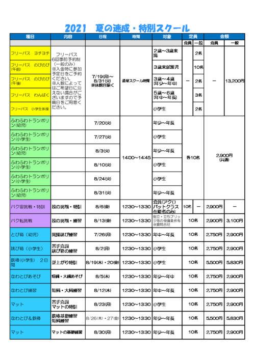 仙川支店 夏の速成・特別スクールのサムネイル
